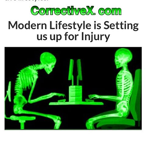 American food is not the only thing killing us!  Our lifestyle is leading us down a path to pain and hypokinetic disease.  This picture is a great example of how technology takes a toll.  NASN Pros have seen an increase in clients not being able to move or exercise effectively.  Even relatively health clients are showing poor posture,  inflexible or weak muscles.  The NASN has the solution.  After years of study and research,  the NASN has formed a team of experts to develop the assessment protocol and program to offset this emerging health dilemma.  Check out our latest and greatest at CorrectiveX.com. #CorrectiveExercise #exercisepain #poorposture #activelifestyle #personaltrainercertification
