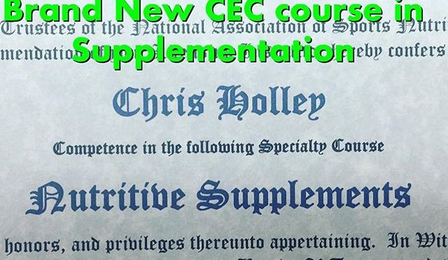 Check out this great new course in Nutritive Supplementation. It's a great course if you recommend Supplements to your clients. Learn what to do and what NOT to do. Call 858-694-0317 or message us for more info.