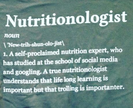 Don't be a nutrition guru. Don't be a nutrition quack. GET CERTIFIED! Get licensed. Become a legitimate nutrition professional.